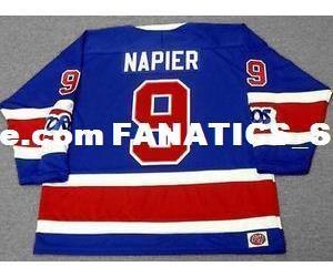 Мужские, женские, детские-Марк Нейпир Торонто Торос 1975 WHA Vintage Mn хоккей персонализированные трикотажные изделия-пользовательские любой NameNo.Goalit Кроя