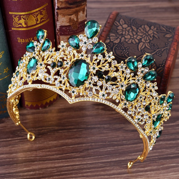 Royal Crystal Bridal Crowns Silver Wedding Headband Bridal Hair Accesorry Wedding Tiaras Hair Pieces Quinceanera Queen Miss World Crown