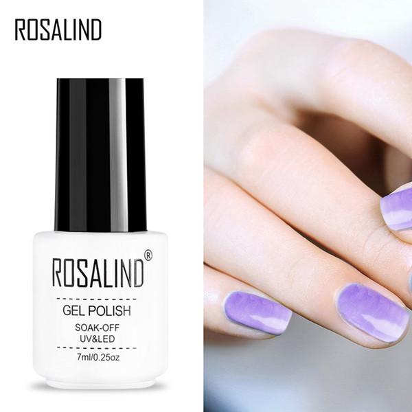 ROSALIND Gel 1S New Blossom Klar Nagellack Für DIY Nail art Benötigen Bunte Malerei gel und TOP BASE Coat Polish