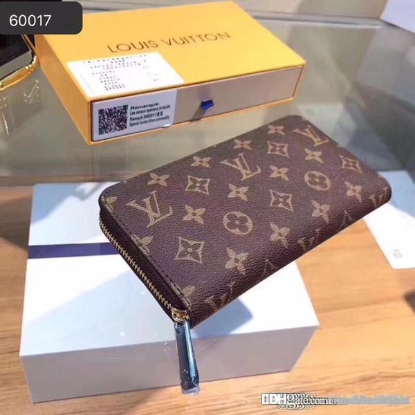 top popular LOUISVUITTON1 Leather Wallet Zipper Purse For Women 3A+ Handbags Men Long Clutch Satchel MICHAEL V18 KOR Bags Tote Sac 2019