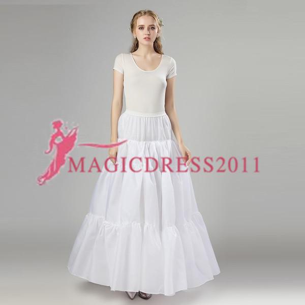 2019 Nuevas enaguas Blanco Tres aros Vestido formal Novia Crinolina Accesorios de boda Lady Girls Stock Short Underskirt 12006