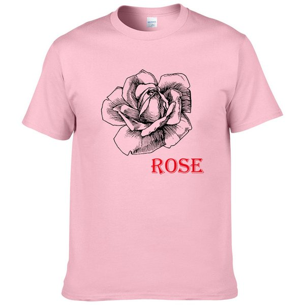 2019 Summer Fashion Rose Print T-Shirt da uomo a maniche corte in cotone Top Cool T-Shirt da uomo casual 01