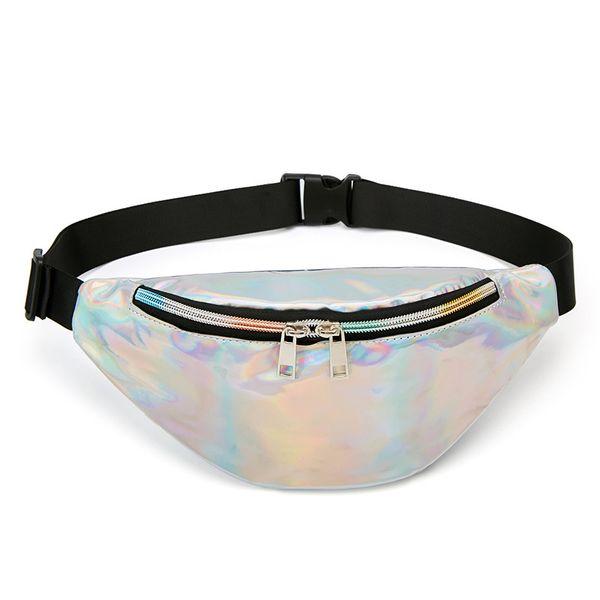 Outdoor Fanny bag trend laser phone sports chest bag single shoulder oblique satchel crossbody bag(10 pieces)