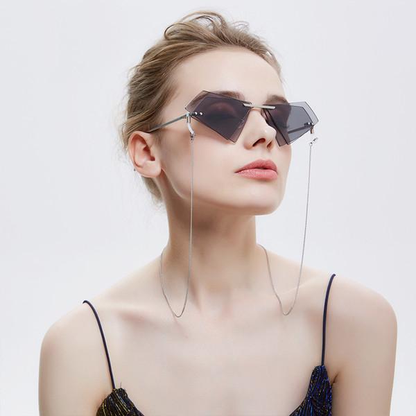 Hombres / Gafas Accesorios Gafas de acero inoxidable Cadena portalentes de las mujeres correa de cuello libremente Dropshipping