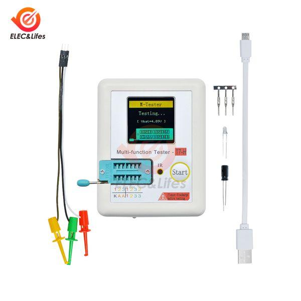TC-T7-H LCD Digital Transistor Tester NPN PNP Diode Triode Capacitance Resistance Tester TFT Graphic Display Multifunction Meter