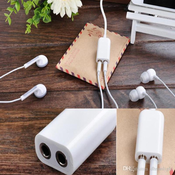 2018 Hot Sale 3.5mm Earphone Headphone Dual Female Y Splitter Stereo Audio Cable Adapter Male 1 to 2