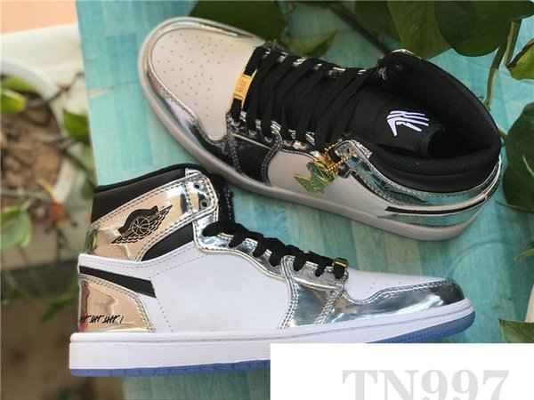 new Release Authentic 1 High OG Think 16 pass the torch 1S Men Basketball Shoes Gold Top 3 Sports Sneakers With Box AQ7476-016