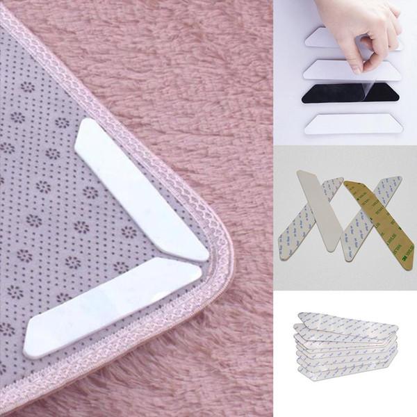 Adesivi per tappeti per la casa Tappetini da bagno Toppa fissa antiscivolo per confezione bianca di pavimenti in legno (8 pezzi)