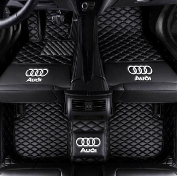 Tapete de carro anti-derrapante PU mat interior costura todos os ambientalmente amigável esteira não-tóxico para Audi Q5 2012-2017