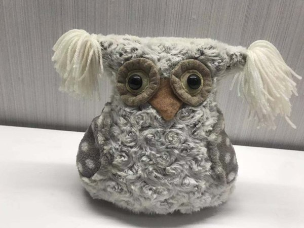 New Christmas Decoration Owl Decoration European and American Crafts High-end Jacquard Fabric Christmas Gifts Trumpet