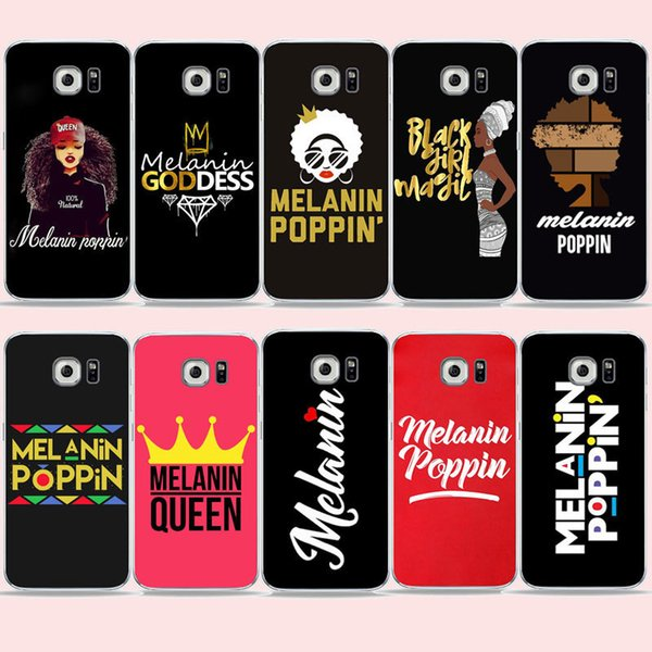 Melanin Poppin Queen phone Case For Samsung S7 edge/s6/S9 S8 Plus A6 A7 Black Girl Magic Cover for Galaxy Note 8 Soft TPU Case