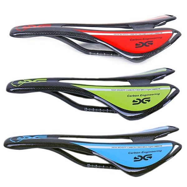 Bicycle Saddle Matt Gloss Hollow Cushion 3K Carbon Fiber Bike Front Seat Super Light Soft Bike Saddle 270*143mm Accessories