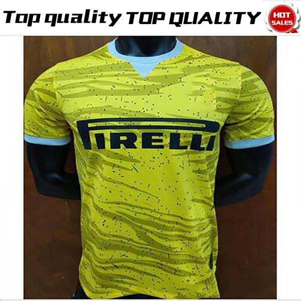 best sneakers 42c49 e25e6 New Logo Inter Soccer Jersey 19/20 Yellow #9 ICARDI #10 LAUTARO #14  NAINGGOLAN #44 PERISIC New Logo Inter Football Uniform Sale Men Jerseys UK  2019 ...