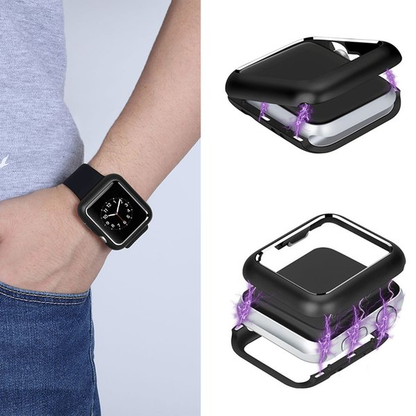 For Apple iPhone IWatch Magnetic Adsorption Metal Frame Smart Watch Protector Wristwatch Anti-scratch Cover IOS Series Multi-inch Bumper
