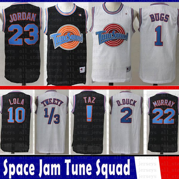 best selling 23 Michael 1 Bugs Youth Mens LeBron 23 James Movie Space Jam Tune Squad Jersey 22 Bill Murray 10 Lola curry D.DUCK ! Taz 1 3 Tweety irving