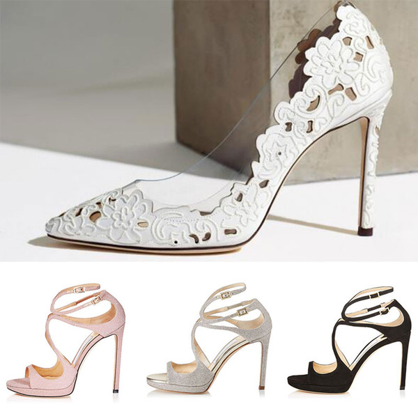 2019 Women Designer Sandals So Kate Styles Fashion Luxury girl high heels 10CM 12CM LANCE black pink white Silver Leather size 35-42 withbox