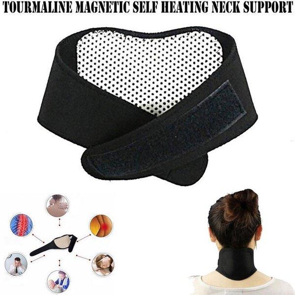 Assistenza sanitaria Riscaldamento autonomo Tourmaline Magnetic Neck Heat Therapy Support Belt Wrap Brace Massaggiatore Sottile Equipaggiamento