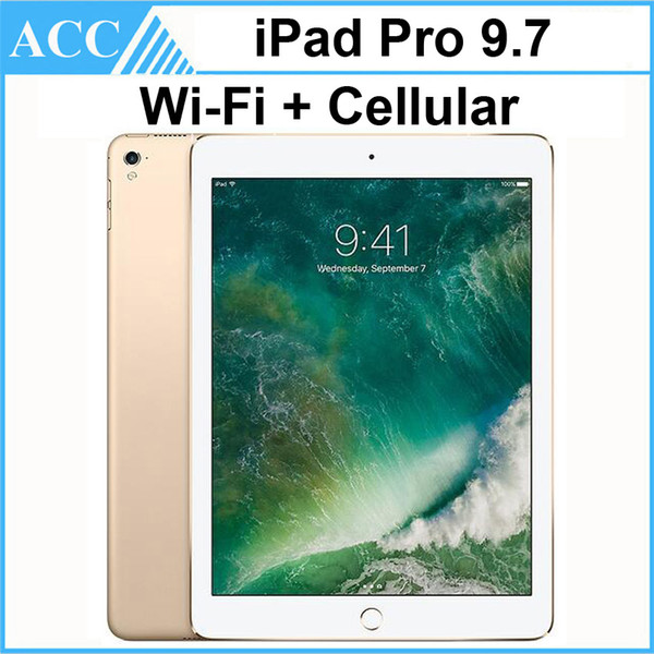 top popular Refurbished Original Apple iPad Pro 9.7 inch 2016 WIFI + Cellular IOS A9X Chipset Dual Core 2GB RAM 32GB 128GB 256GB ROM Tablet PC DHL 1pcs 2020