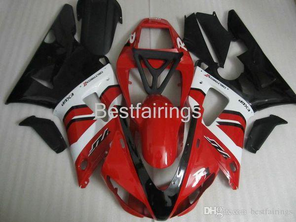 ZXMOTOR 7 gifts fairing kit for YAMAHA R1 1998 1999 white black red fairings YZF R1 98 99 VC35
