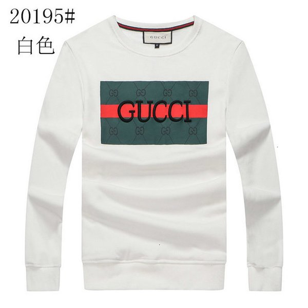 Sweat Hommes 2019 Confortable souple de haute qualité en tricot imprimé brodé Sweat Hommes Casual Sweat-shirt Conception de mode Taille M-2XL