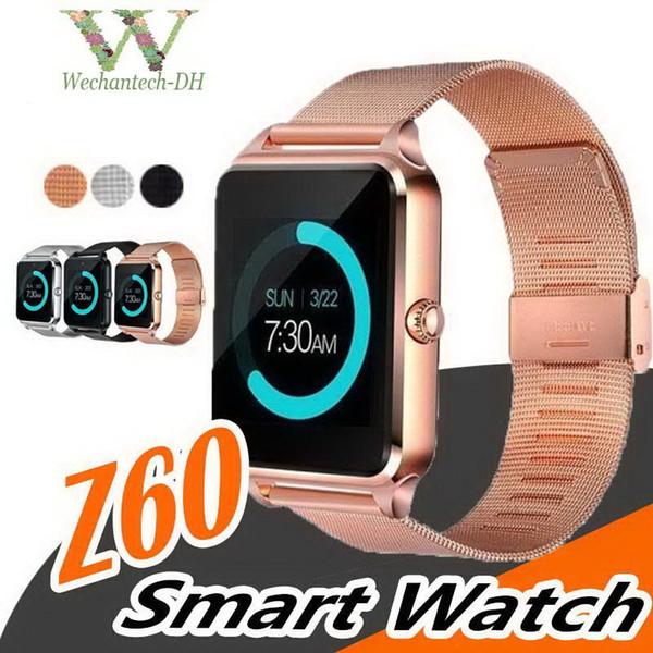 Smart Watch Z60 GT09 Uomo Donna Polso Smartwatch Supporto SIM TF Card Orologio da polso per telefono Android PK DZ09