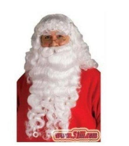 christmas Santa Claus Costume Complete Beard Wig and Eyebrow set Anime queen Cosplay hair wigs Free deliver