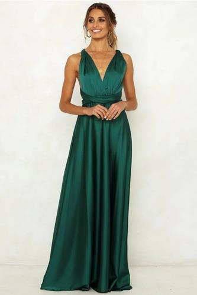 Parti Vert col V profond dos nu robe de soirée de fiançailles de bal cocktail sexy femmes Robes
