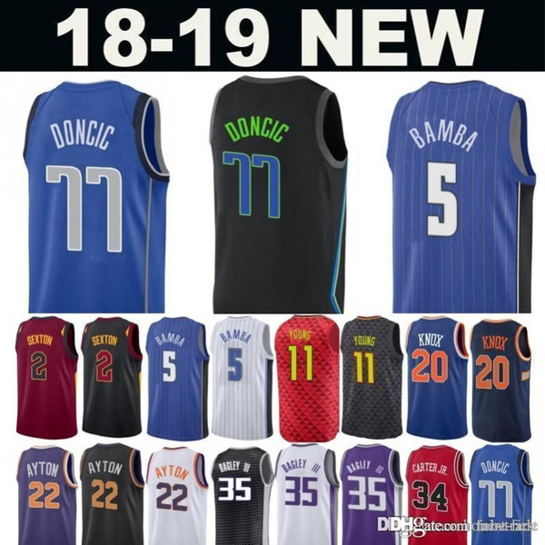 5c25112e4d5 77 Doncic 2019 City Jersey 41 Dirk Luka Nowitzki 2 Sexton 5 Mohamed Collin  Bamba 35 Bagley III 11 Trae Marvin Young 23 Griffin Jerseys Blake