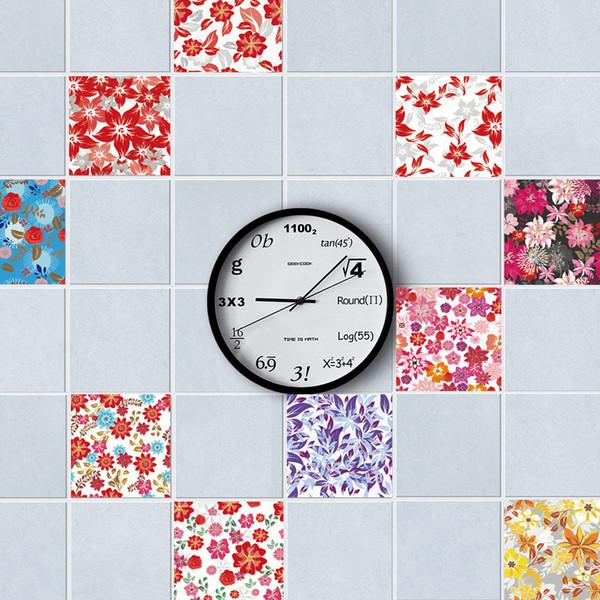 New 3D Pattern Tile Floor Sticker Kitchen Bathroom Waist Line Wall Stickers Waterproof Poster Home Decor Self-adhesive Art Mural