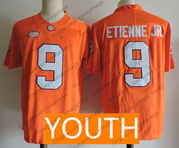Jugend # 9 Travis Etienne Jr. Orange
