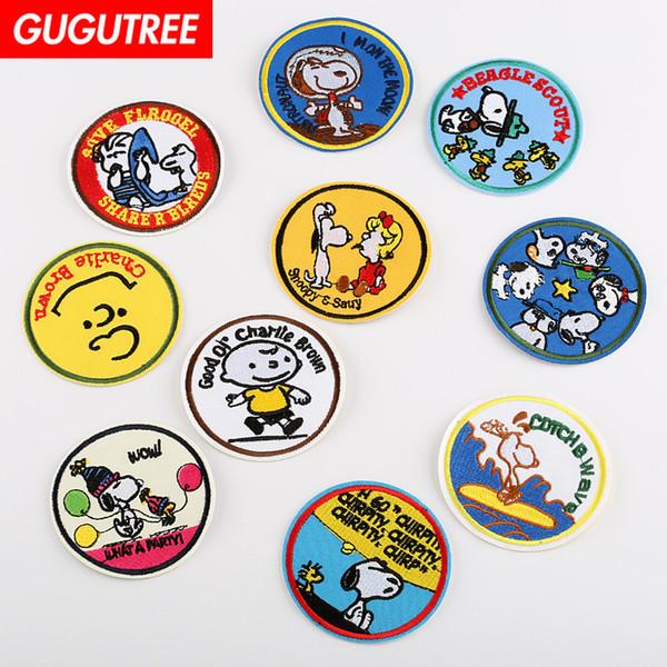 GUGUTREE hierro en el bordado de los perros parches insignia parche Apliques parche, camiseta, sombrero, bolsos, suéter, mochila SP-450