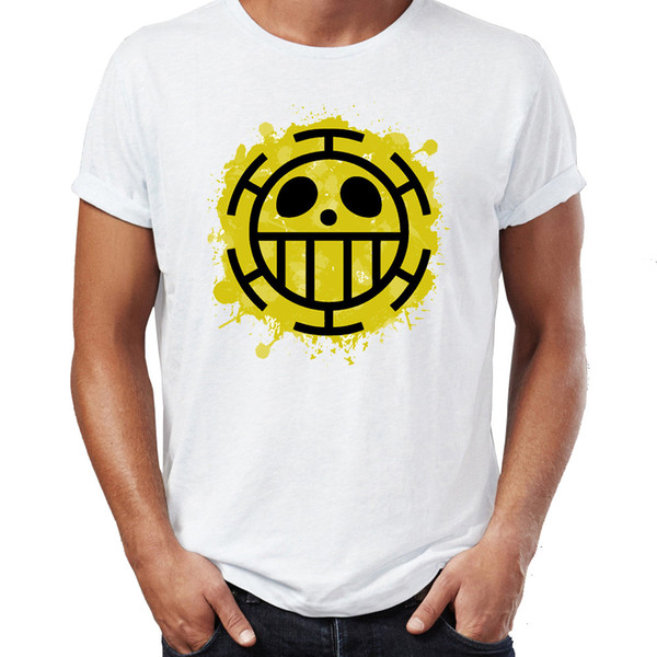 Men's T Shirt Heart Pirates One Piece Anime Badass Tee Short Sleeve Tee Shirt Free Shipping cheap wholesale short sleeve t shirt