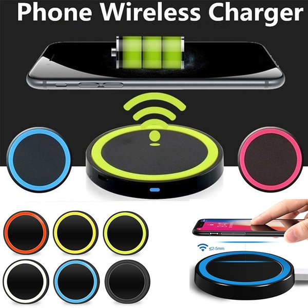 Q5 Wireless Charger Cell phone Mini Charge Pad For Qi-abled device Samsung Galaxy S3 S4 S5 S6 Note2 3 Nokia HTC LG iphone