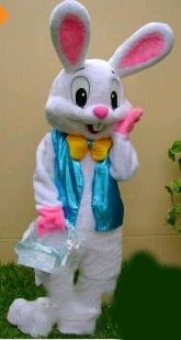 2019 high quality the Easter bunny mascot costume adult costume cartoon set a new Easter dress dress free shipping