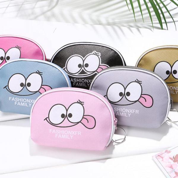 Cute Cartoon Smiley Face Coin Purses PU Leather Kids Holder Women Mini Wallet Money Storage Bag Key Case Girl Child Zipper Pouch
