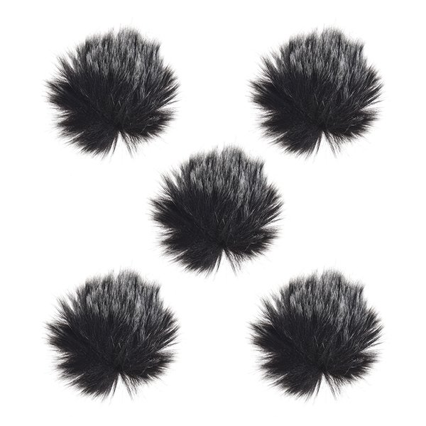 1//2x Black Fur Windscreen Windshield Wind Muff For Lapel Lavalier Microphone Mic