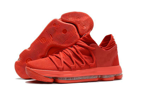 Fashion Men zoom KD Basketball Shoe 2019 new High quality KD 10 Oreo Be True University Red White Chrome Kevin Durant Outdoor Sneakers