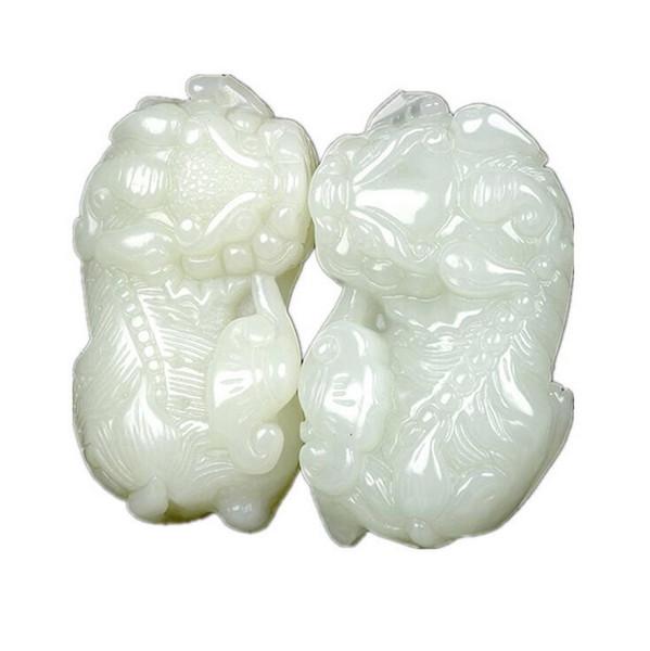 Factory direct opening genuine Hetian jade Ruyi Wang Wang carved jade pendant