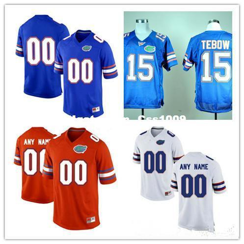 Custom Mens Florida Gators College Football Limited royal blue orange white Personalized Stitched Any Name Number #15 Tebow 22 Jerseys
