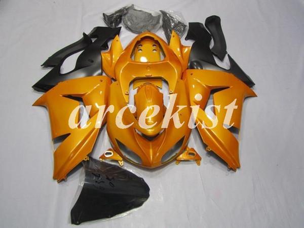 New ABS Motorcycle Fairings Kits Fit for Kawasaki Ninja ZX-10R 2006 2007 06 07 Body set Custom Orange Light