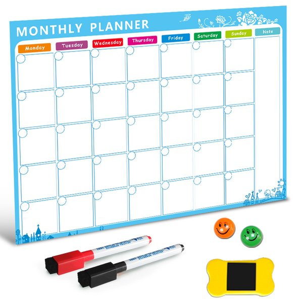 best selling Magnetic whiteboard Dry erase on board Magnets fridge To -do List Monthly Daily planner Organizer for kitchen