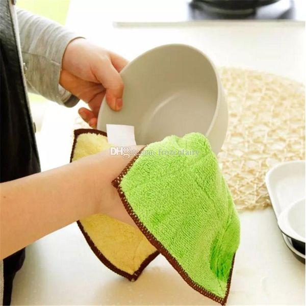 300 pz Alta Efficiente Anti-grasso Color Dish Cloth In Microfibra Asciugamano Magico Cucina Pulizia Asciugandosi Rags All'ingrosso aa65-752 20171128
