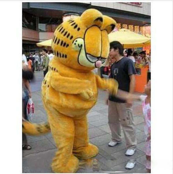 Garfield Cat traje de la mascota de dibujos animados disfraces de Halloween fiesta de la fiesta de Navidad adultos trajes de dibujos animados vestido de lujo envío gratis