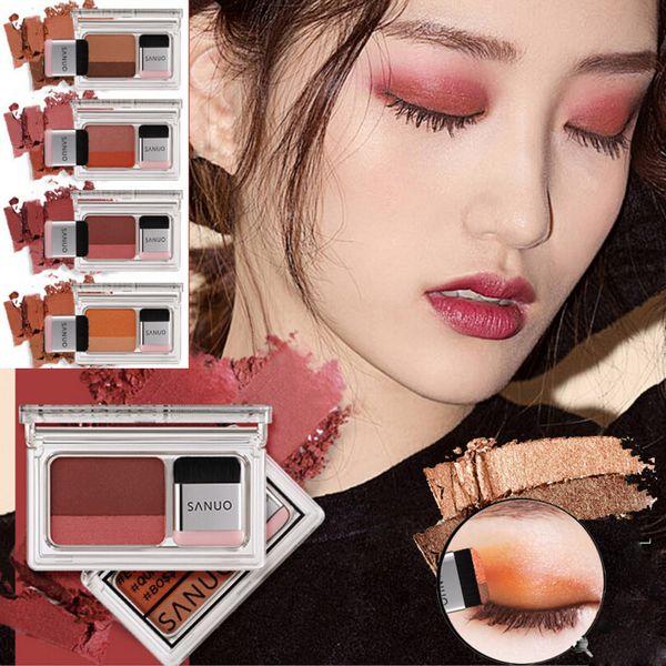 2 Color Lazy Eye Shadow Powder Rainbow Shimmer Makeup Beauty Shadow Make Up Kit 2018