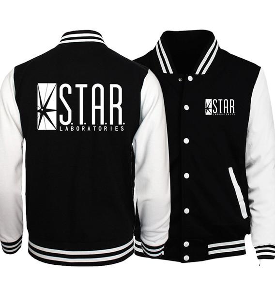 The Flasher Star S.T.A.R. Labs Baseball Jackets Men 2018 Spring New Hoodies Men Teen Wolf Stilinski 24 Jacket Hipster S-5XL