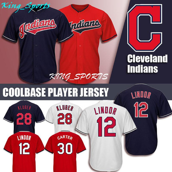 reputable site cd14f bd766 2019 Cleveland Indians Majestic Coolbase Jersey 12 Francisco Lindor Jersey  28 Corey Kluber 30 Joe Carter 10 Edwin Encarnacion From Lkjh_gfdsa, $23.14  ...