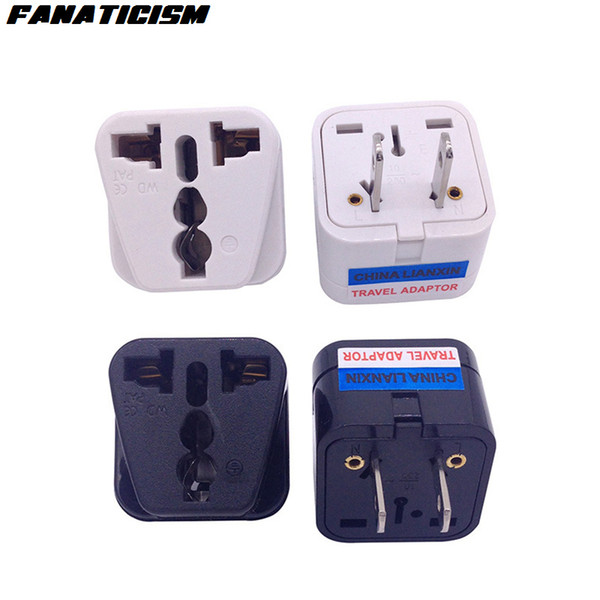 Fanaticism CE Certification Universal UK AU EU To US Plug Adapter Socket Converter 2 Pins USA Travel Electrical Plug Adaptor
