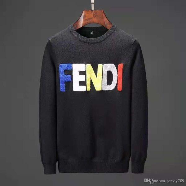 Men's Black Striped Knitted Wool Letter Embroidered Sweatshirt Men's Brand Sports Sweater Jacket Jacket Cardigan Cardigan Designer