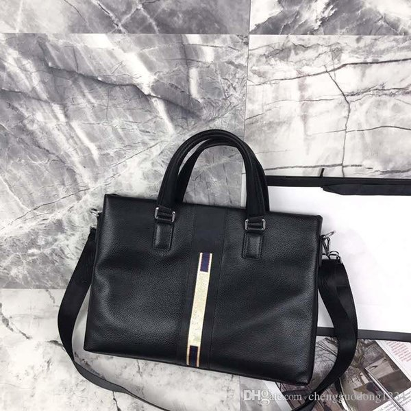 The New Document Baotou Layer Cowhide Leather Men's Men Business Handbag Cross Money And Vertical One Shoulder Inclined Across Bags