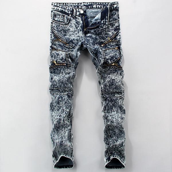 2018 Fashion Hot Mens Designer Jeans Men Famous Brand Denim With Snow Plus Size